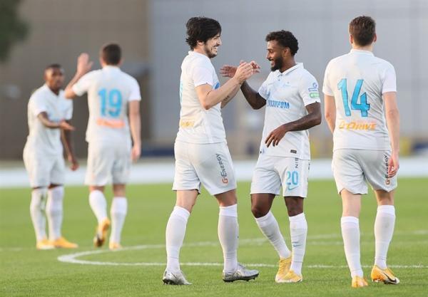 پیروزی زنیت در امارات با گلزنی آزمون