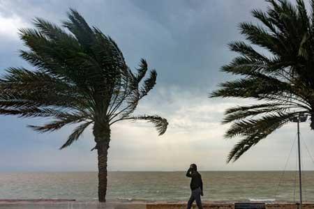 فعالیت سامانه بارشی در شرق کشور ، باد و گرد و خاک در هفت استان