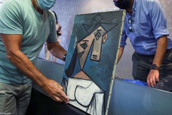 (ویدئو) پلیس نقاشی پیکاسو را موقع نمایش برای رسانه ها انداخت
