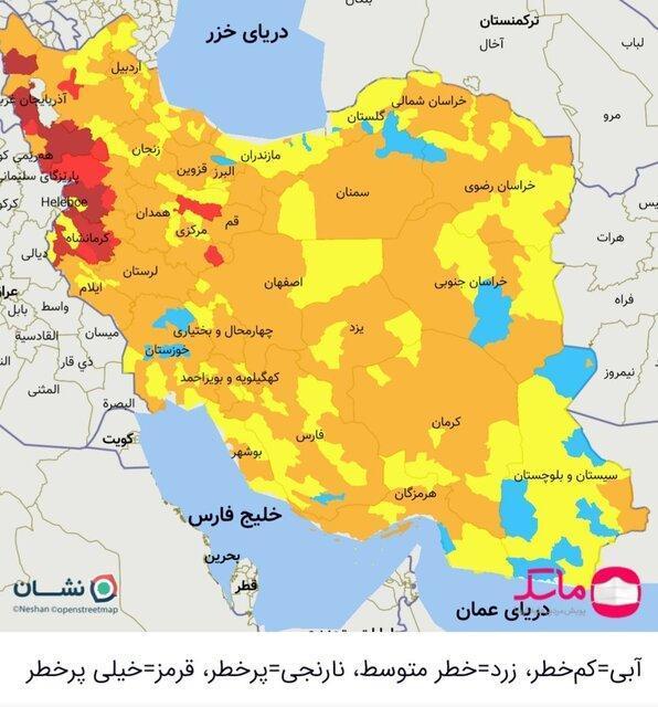 خروج خوزستان از شرایط قرمز کرونا