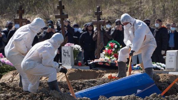 مرگ بیش از 850 نفر دیگر بر اثر کرونا در روسیه